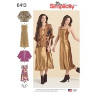 Pattern Design Sewing Dresses Misses Slip Dress In Two Lengths And Kimono Simplicity Sewing