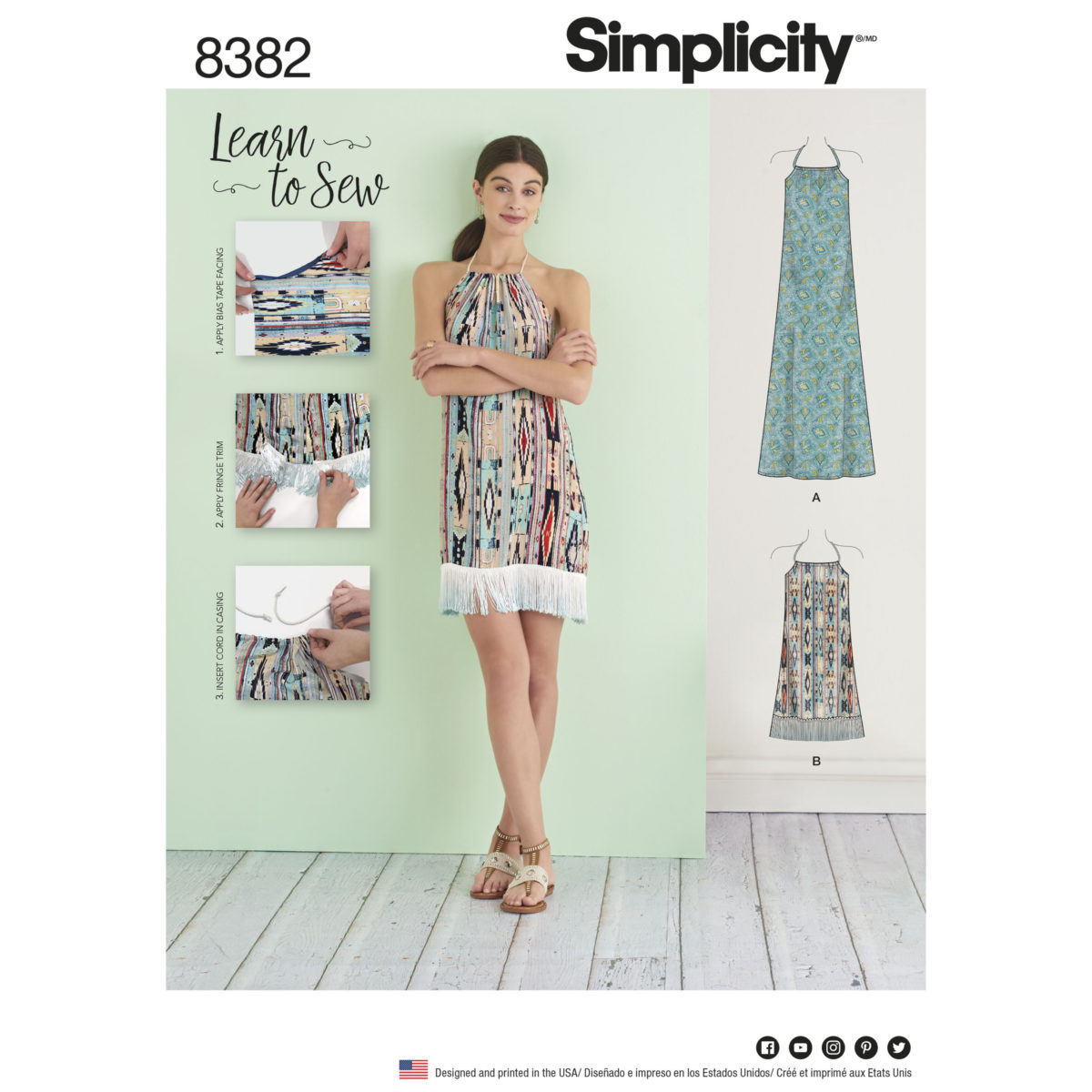 Pattern Design Sewing Dresses Simplicity Sewing Pattern 8382 A Learn To Sew Summer Dress