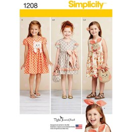 Pattern Design Sewing Dresses Simplicity Sewing Pattern Girls Dress And Accessories Hobcraft