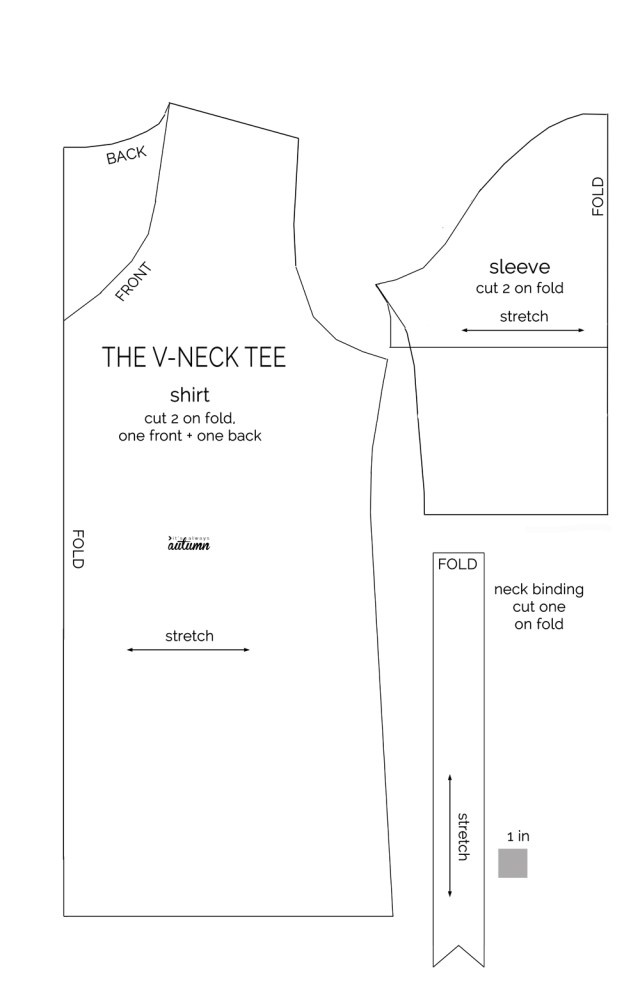 Patterns For Sewing How To Make A V Neck T Shirt Sewing Pattern And Tutorial Its