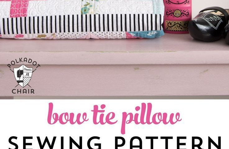 Pillow Sewing Patterns Bow Tie Pillow Sewing Pattern Inspiration Sewing Projects