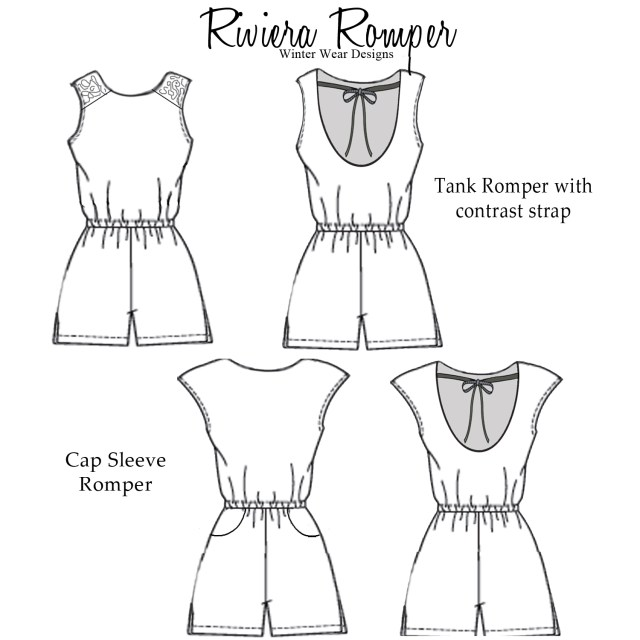 Playsuit Pattern Sewing Sewing Mama Raeanna Rompers For Women