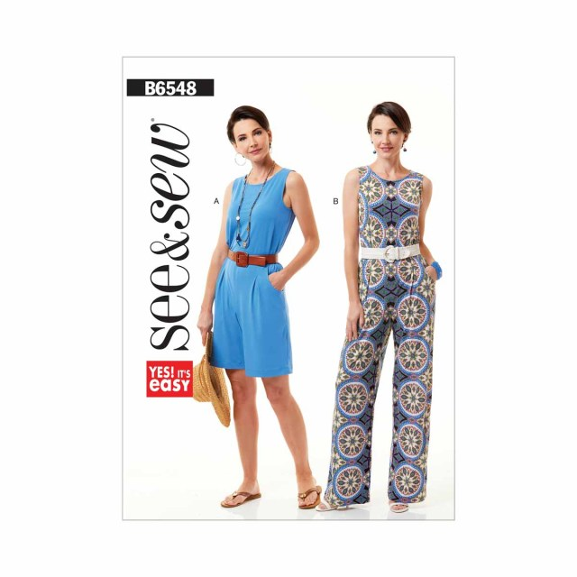 Playsuit Pattern Sewing Womens Jumpsuit And Playsuit Size Xs Xxl Butterick See And Sew