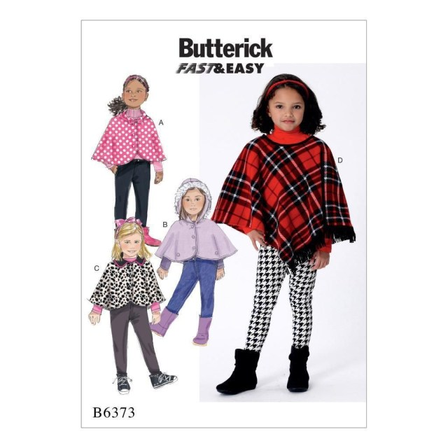 Poncho Sewing Pattern Butterick Sewing Pattern Children S Girls Capes Poncho Sizes 2 8