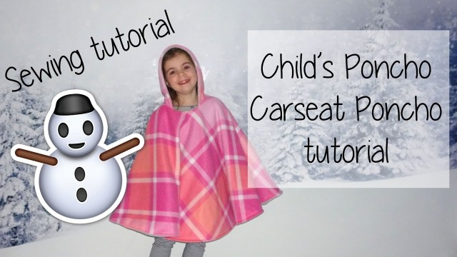 Poncho Sewing Pattern Easy Childs Poncho Car Seat Poncho Reversible Sewing