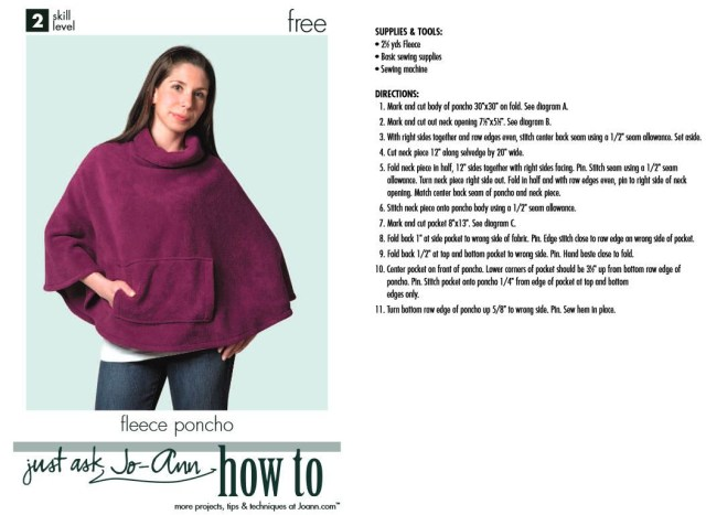 Poncho Sewing Pattern How Tosew A Poncho A Dozen Free Patterns And Instructions