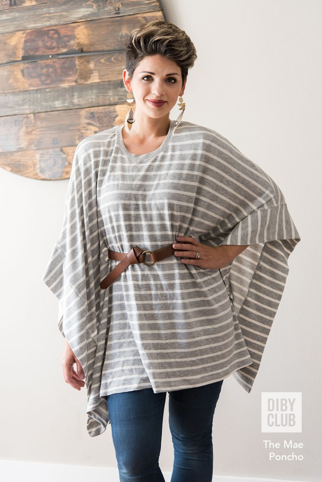 Poncho Sewing Pattern The Mae Poncho Sweater Pdf Sewing Pattern Di Club