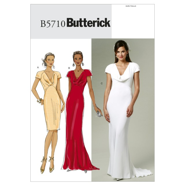 Prom Dress Sewing Patterns Butterick Misses Bridalevening Dress Sewing Pattern 373633