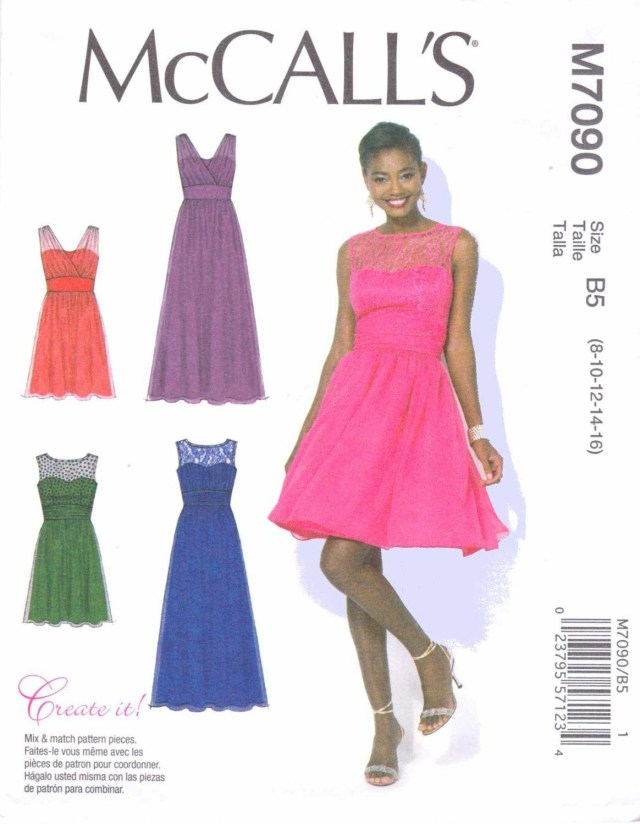 Prom Dress Sewing Patterns Mccalls Sewing Pattern 7090 Womens Plus Size 18w 24w Create It