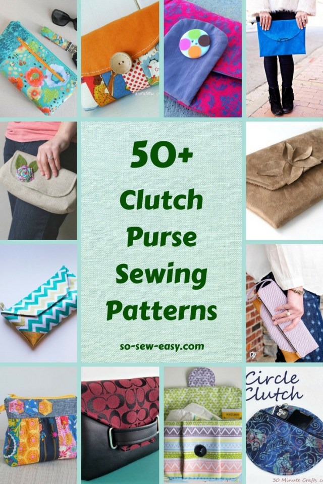 Purse Patterns To Sew 50 Free Clutch Purse Sewing Patterns Sewing 4 Free