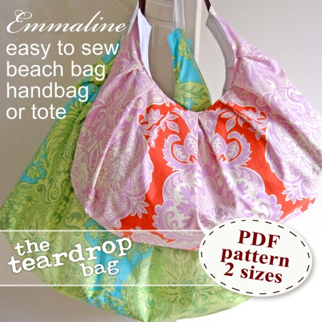 Purse Patterns To Sew Emmaline Bags Sewing Patterns And Purse Supplies The Teardrop Bag
