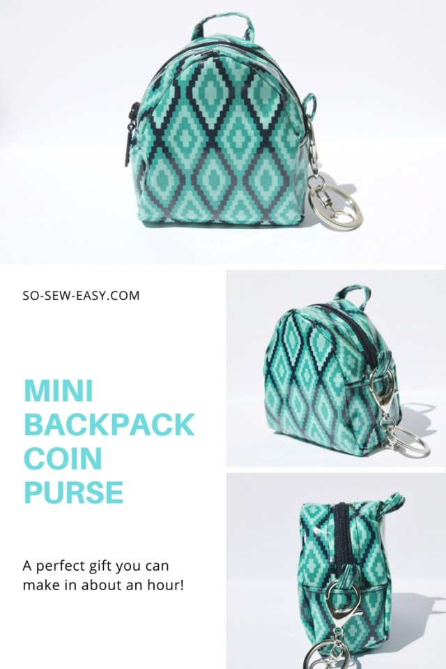 Purse Patterns To Sew Mini Backpack Coin Purse Pattern Free And Easy So Sew Easy