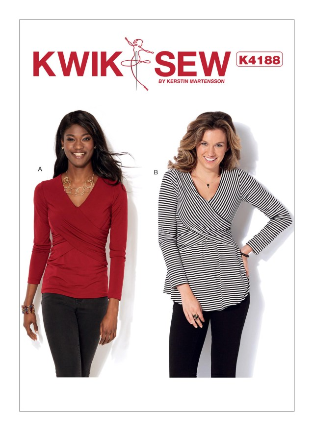 Quick Sew Patterns Kwik Sew 4188 Misses Front Crossover Tops
