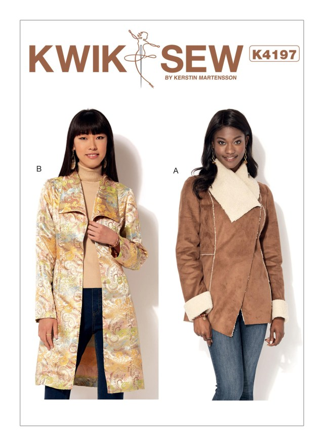 Quick Sew Patterns Kwik Sew 4197 Misses Shawl Collar Jacket And Coat