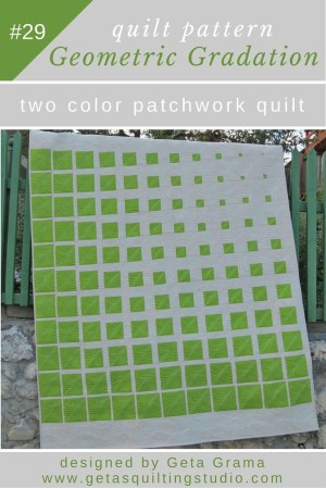 Quilting Patterns Easy Geometric Gradation Two Color Geometric Patchwork Quilt Pattern