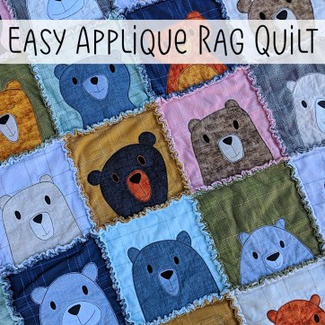 Quilting Patterns Easy Make An Easy Applique Rag Quilt Tutorial Shiny Happy World