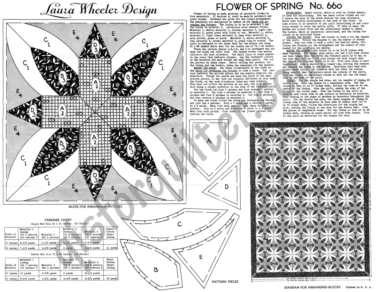 Quilting Patterns Free Templates Laura Wheeler Quilt Pattern Flower Of Spring Q Is For Quilter