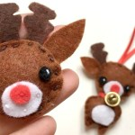 Reindeer Sewing Pattern Kawaii Reindeer Badge Ornament Diy Christmas Sewing For