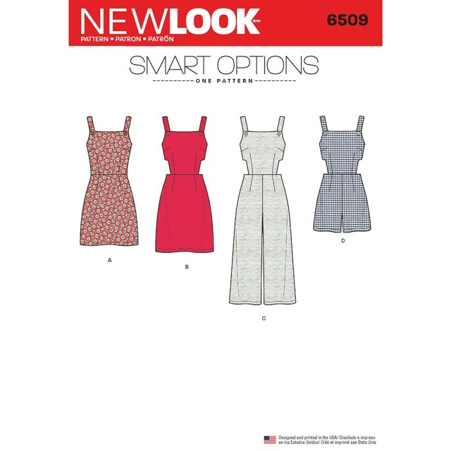 Romper Sewing Pattern Womens Jumper Romper And Dress With Bodice Variations New Look