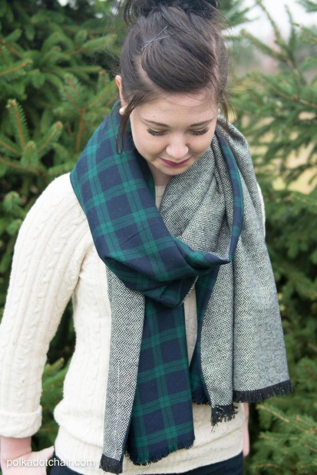 Scarf Sewing Patterns Diy Winter Scarf Tutorial On Polkadotchair Inspiration Sewing