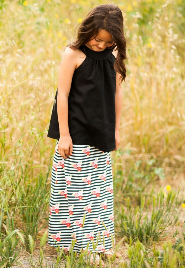 Sew Sweet Patterns Maxi Skirt Pdf Sewing Pattern Tutorial Sewing Projects