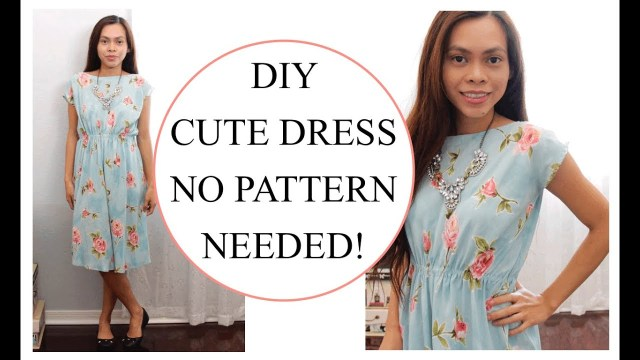 Sewing Dress Patterns How To Sew Dress Without Pattern Sewing Project For Beginners Youtube