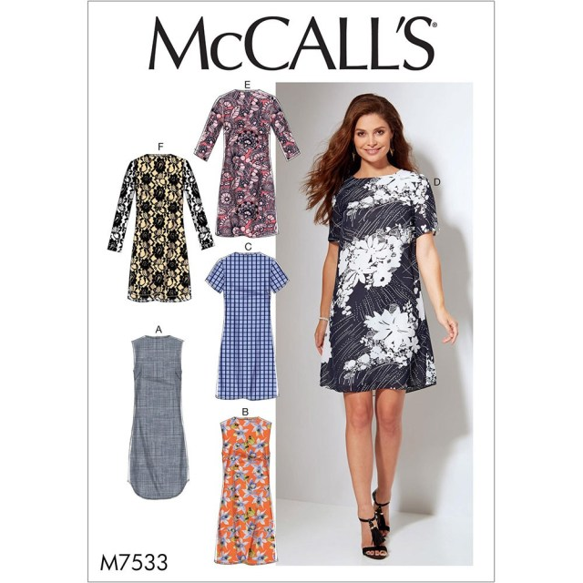 Sewing Dress Patterns Misses And Womens Fitted Sheath Dresses Mccalls Sewing Pattern 7533