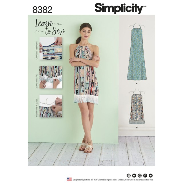 Sewing Dress Patterns Simplicity Sewing Pattern 8382 A Learn To Sew Summer Dress