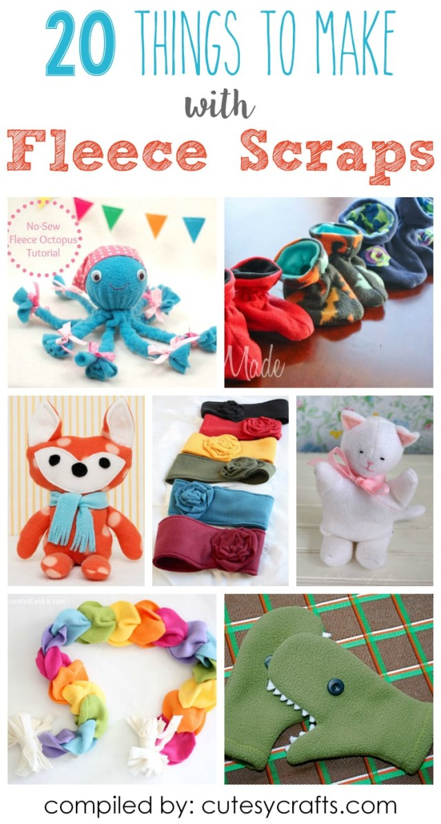 Sewing Fleece Projects Kids 20 Adorable Things To Make With Fleece Scraps Cutesy Crafts