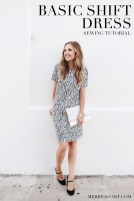 Sewing Pattern Easy Easy Shift Dress Sewing Tutorial Free Sewing Patterns And