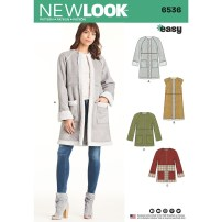 Sewing Pattern Easy Misses Easy Coat In Two Lengths New Look Sewing Pattern 6536 Sew