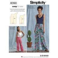 Sewing Pattern Easy Sewing Pattern 8390 A Easy Sew Trousers One Size