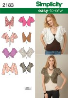 Sewing Pattern Easy Simplicity 2183 Misses Easy To Sew Vest Or Jacket