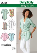 Sewing Pattern Easy Simplicity 2255 Misses Easy To Sew Tunic Or Shirt