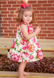 Sewing Pattern For Girl Reversible A Line Dress Sewing Pattern Sizes Newborn To 12 Years