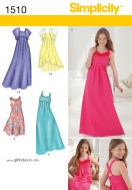 Sewing Pattern For Girl Simplicity 1510 Girls Girls Plus Special Occasion Dress