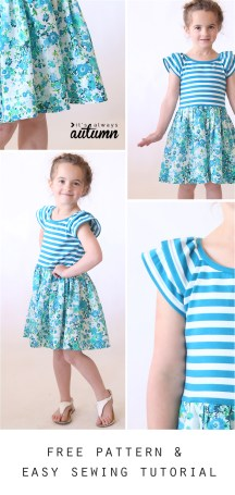 Sewing Pattern For Girl The Hello Spring Girls Dress Free Pattern In Size 45 Its