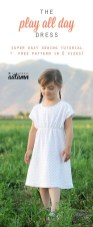 Sewing Pattern For Girl The Play All Day Dress Free Girls Dress Pattern In 6 Sizes Free