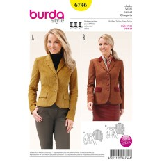 Sewing Pattern Womens Coat Misses Blazer Jacket Burda Sewing Pattern No 6746 Size 8 18 Sew