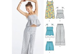 Sewing Pattern Womens Womens Dress Tops In Two Lengths Trousers And Shorts New Look