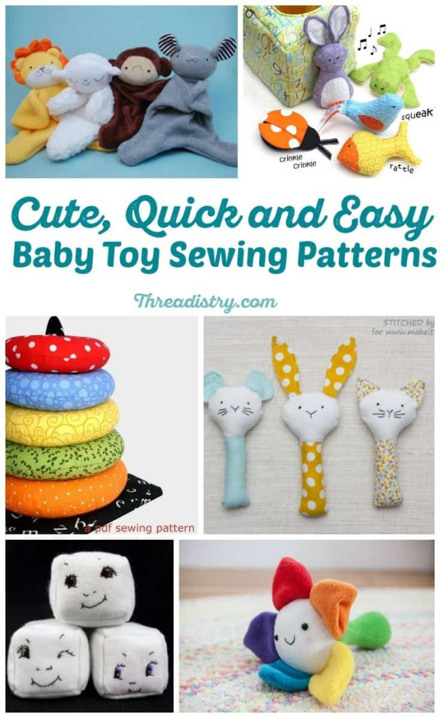 Sewing Patterns For Babies Cute And Quick Easy Ba Toy Sewing Patterns