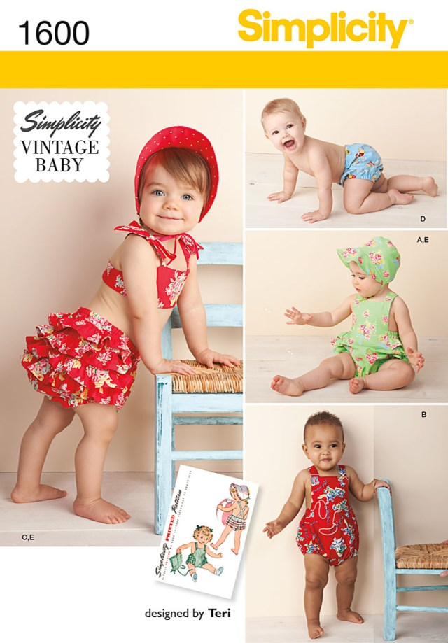 Sewing Patterns For Babies Simplicity Vintage Ba Babies Sewing Pattern 1600 Romper Set