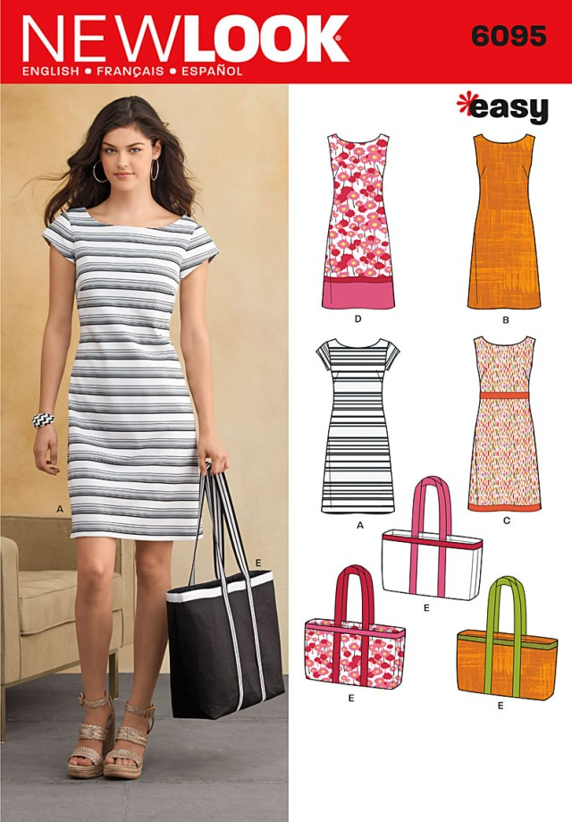 Sewing Patterns For Beginners New Look 6095 Dress And Bag