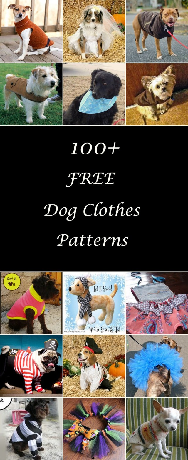 Sewing Patterns For Dogs 100 Free Dog Clothes Patterns Free Sewing Patterns Pinterest