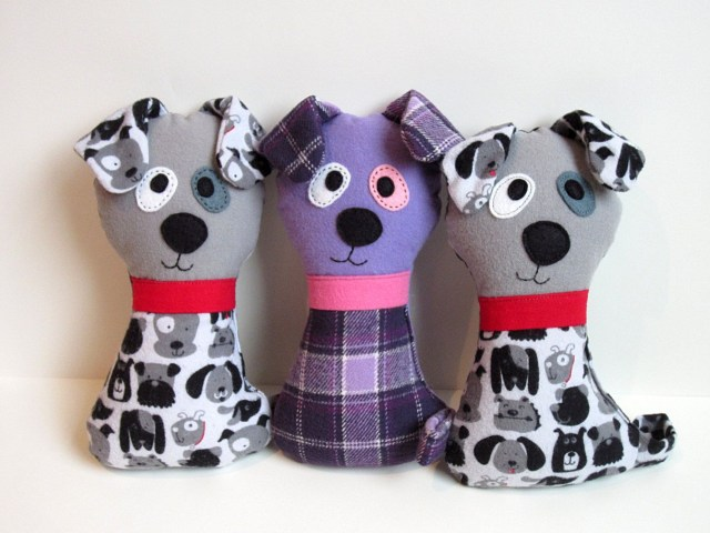 Sewing Patterns For Dogs Dog Pattern Scruffy The Stuffed Doggie Pdf Sewing Pattern Soft