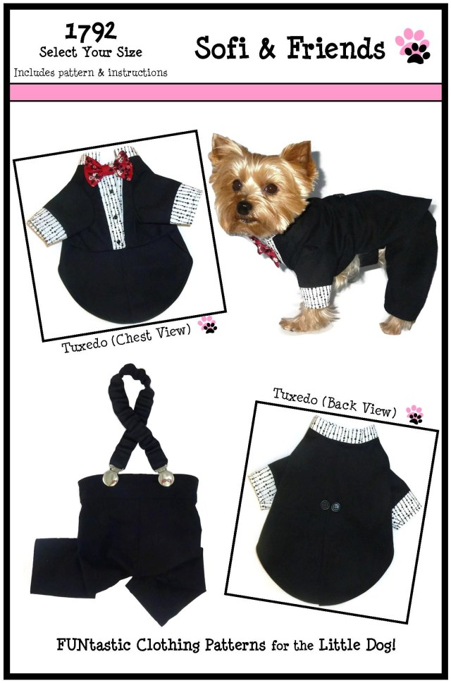 Sewing Patterns For Dogs Dog Tuxedo Pattern 1792 Dog Jackets Dog Wedding Outfits Dog