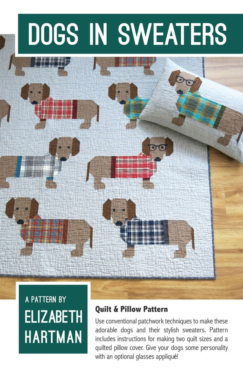 Sewing Patterns For Dogs Dogs In Sweaters Quilt Sewing Pattern Elizabeth Hartman
