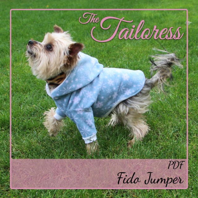 Sewing Patterns For Dogs Fido Jumper Sweater Top For Dogs Pdf Sewing Pattern The Tailoress