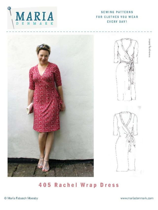 Sewing Patterns For Dresses Mariadenmark 405 Rachel Wrap Dress Sewing Pattern