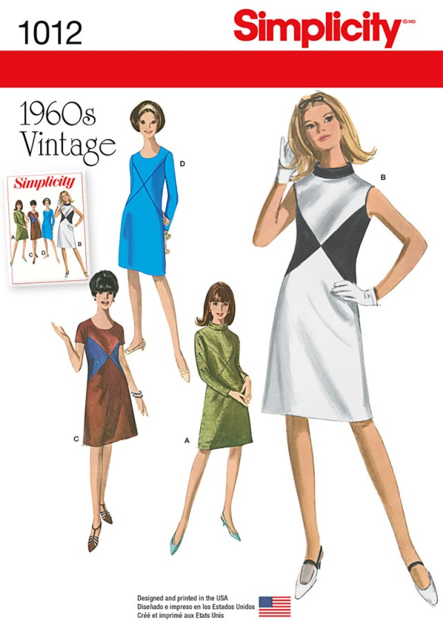 Sewing Patterns For Dresses Simplicity 1012 Misses Vintage Dress